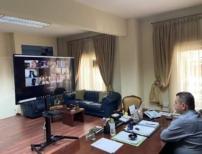 Τηλεδιάσκεψη είχε ο Αντιπεριφερειάρχης Ημαθίας Κώστας Καλαϊτζίδης με τον πρόεδρο του ΕΛΓΑ και τον Υφυπουργό Οικονομικών Απόστολο Βεσυρόπουλο