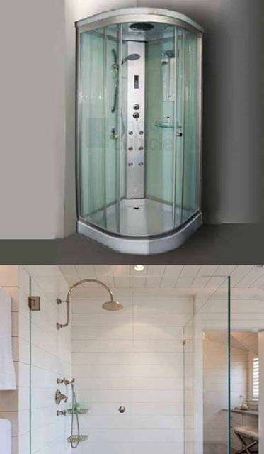 types of showers
