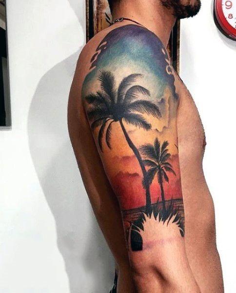pr_do_sol_palmas_braço_de_tatuagem
