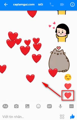 Thả ngàn tim bay và cách bắt cóc trái tim trên tin nhắn Facebook