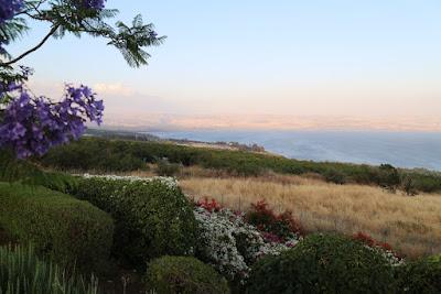 8-13 Quelques images magnifiques du lac de Tibériade, vues de les jardins de notre résidence.
