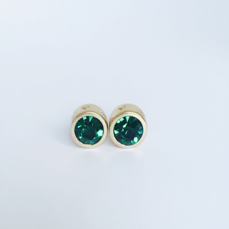 E044 - Gr. Charming Green Stud Earrings by House of LaBelleD.