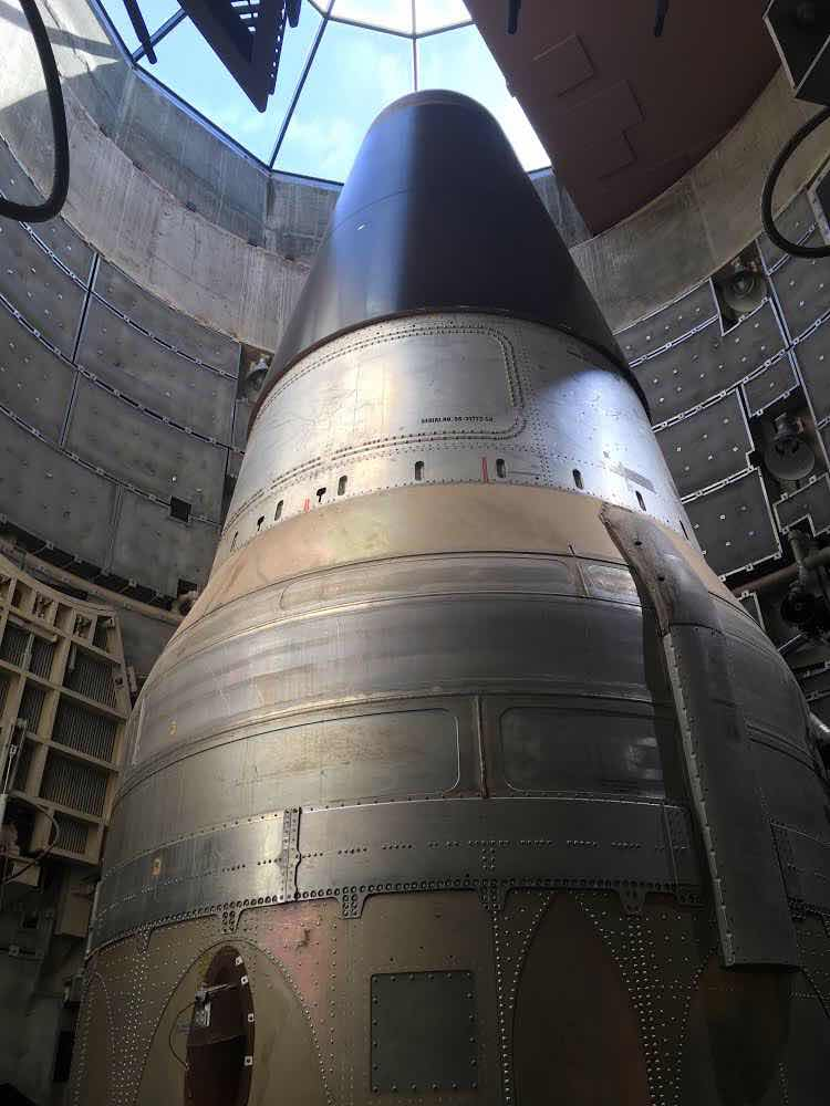 One of the last Titan II ICBMs, now decommissioned (Source: Peggy/ Palmia Observatory)