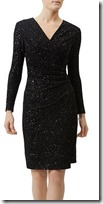 Damsel in a Dress sequin wrap dress