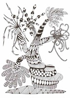 542 Zentangle Hope Tree