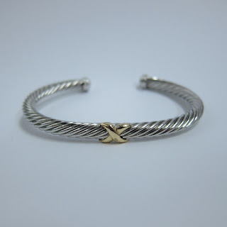 14K Gold and Sterling Silver Cuff
