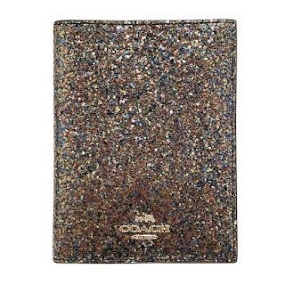 Coach MINT Glitter Passport Wallet