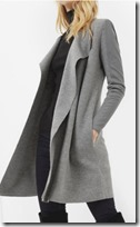 Ted Baker leather panel wrap cardigan