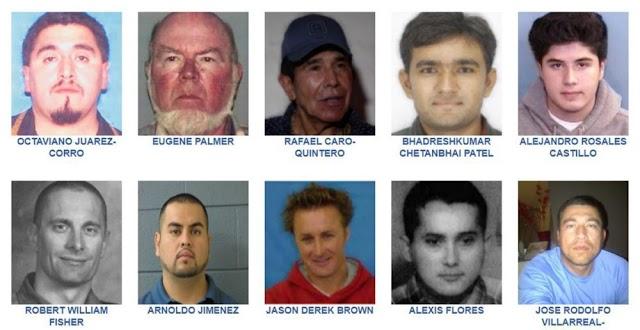 Estos son los fugitivos más buscados por el FBI
