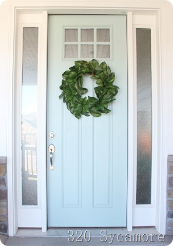 magnolia wreath front door