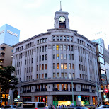 the gorgeous SEIKO building in Ginza by dusk in Ginza, Tokyo, Japan