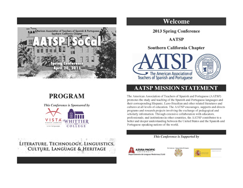 2013 Spring Conference - AATSP