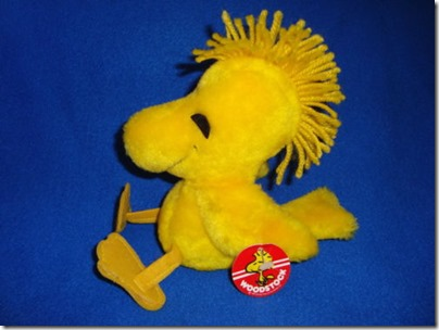 Peanuts Vintage Plush Woodstock 1972 with Tag 7 inches