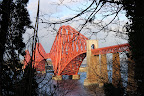 The Forth Railway Bridge, from a disused railway