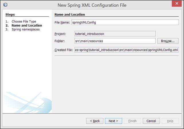 guardar archivo de configuracion spring xml