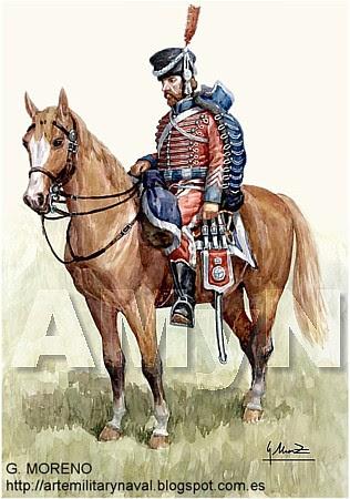 Húsar de Cantabria.-1810
