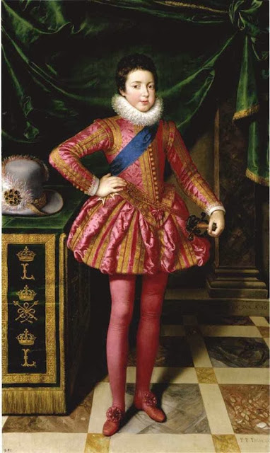 Frans Pourbus the Younger - Louis XIII of France at 10 Years of Age