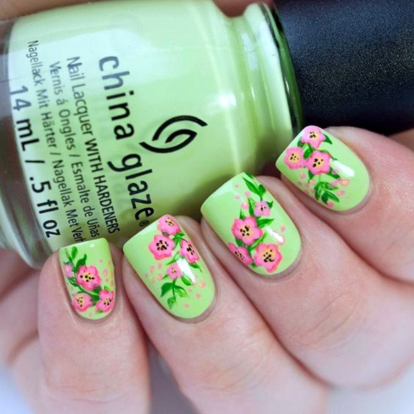 Latest Flower Nail Art Desgins Ideas In 2018 6