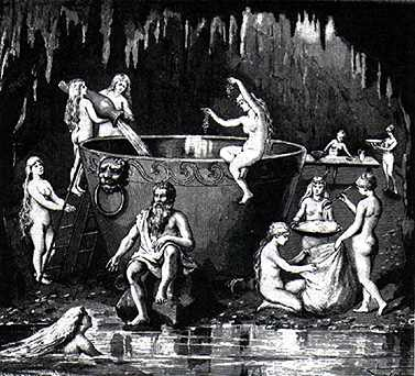 Aegir Ran And Their Nine Daughters, Asatru Gods And Heroes