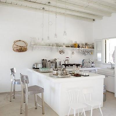coastal style all white beach house. Black Bedroom Furniture Sets. Home Design Ideas