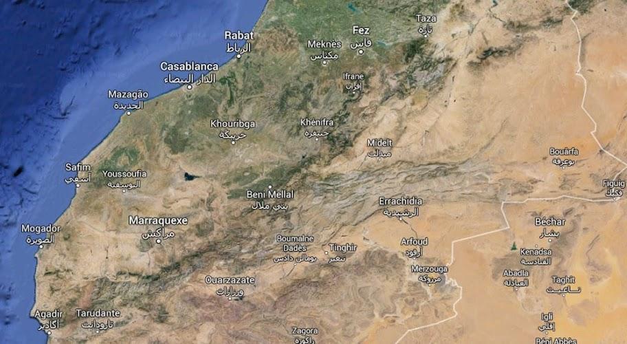 mapa marrocos clima