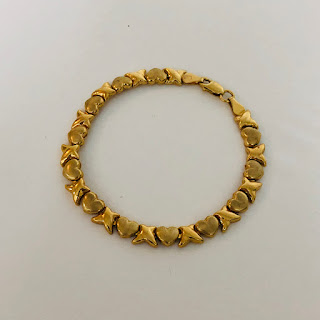 10K Gold Heart Bracelet