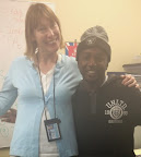 Anthony Grady, Oak Grove Student Highlight June 2014, pictured with teacher Monica Rizzo