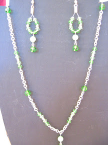 green crystal and chain $ 6.00