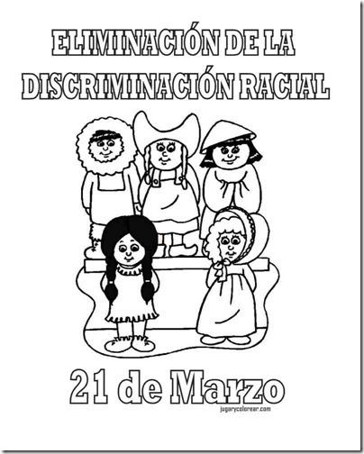 eliminacion discriminacion recial jugarycolorear (7)