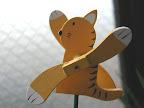 ガーデンアクセサリー:猫風車