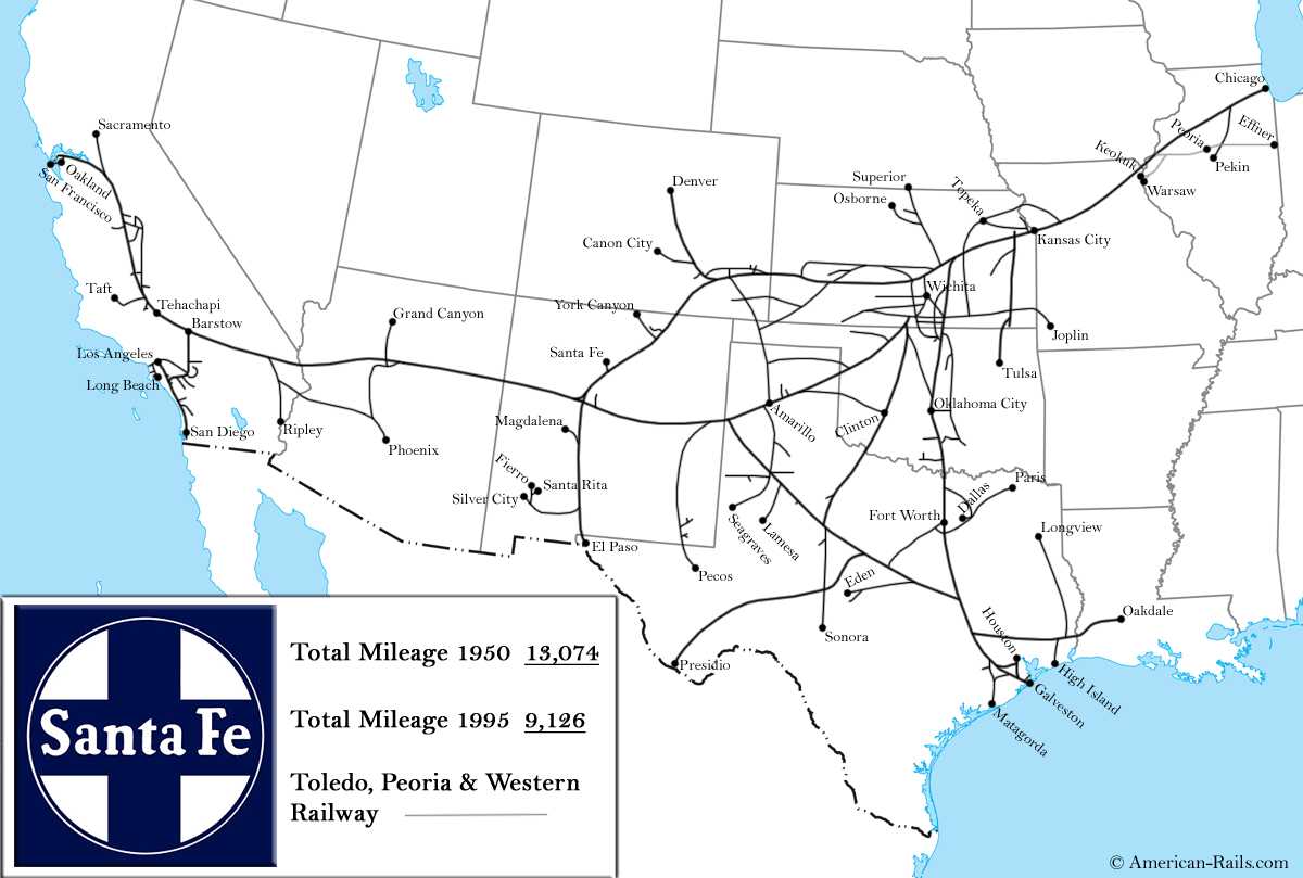 Santa Fe Railway Map