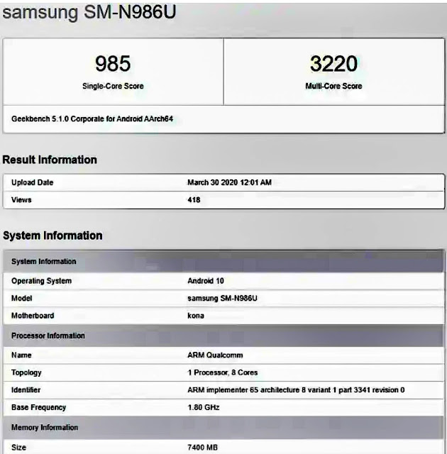Samsung Galaxy Note 20+ 5G will Released soon. read more....... (hindi)