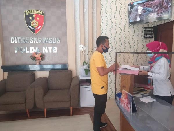 Ketua PPLS Lapor Tiga proyek Disperindag Lombok Barat ke Polda NTB