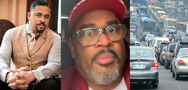 Help me Lord'- American Gospel Artiste, Bryon Cage Cries Out As He was Stuck in Lagos Traffic, Share [VIDEO]