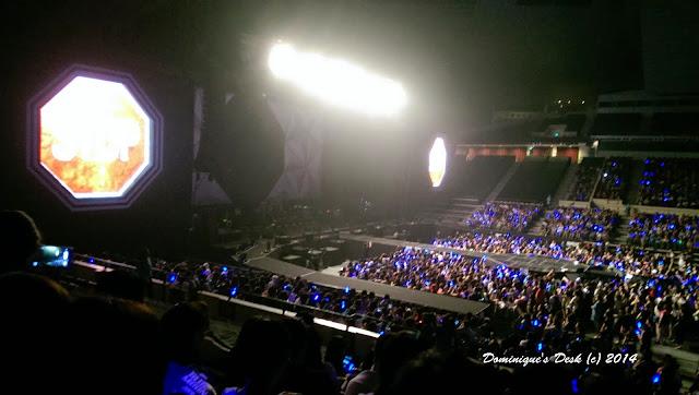 The concert venue- Singapore Indoor Stadium
