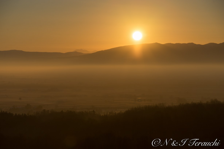 立冬の朝陽@北竜町眺望の丘