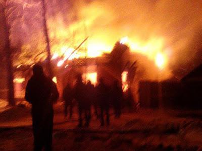 пожар на Петуховке по ул. Калинина