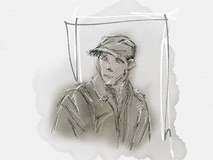 Soldier made with Sketches