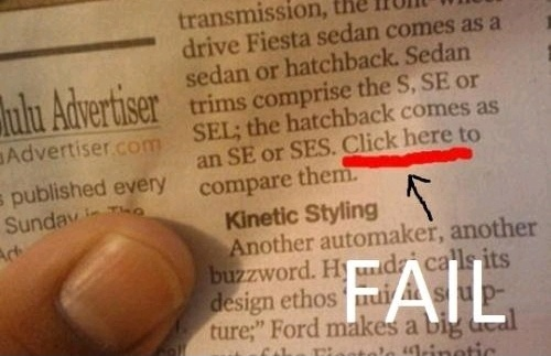 Newspaper Fail : Click Here?