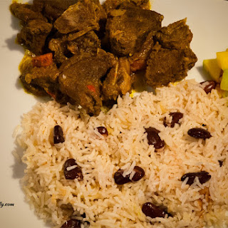 Caribbean Coconut Rice with Red Kidney Beans.