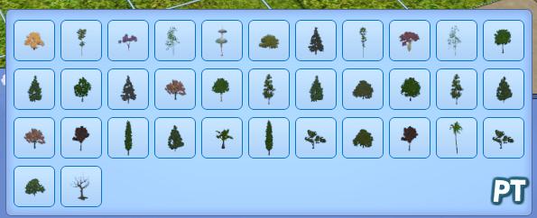 Sims 3 overzicht bomen