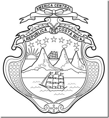 Escudo-de-Costa-Rica-colorear