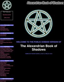 Cover of Sekhet Sophia's Book The Alexandrian Book Of Shadows