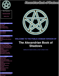 Cover of Sekhet Sophia's Book The Alexandrian Book Of Shadows