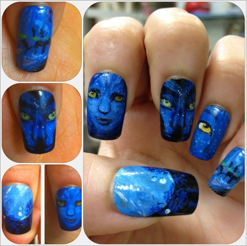 The Completed Avatar Nails Your Own Nail Art