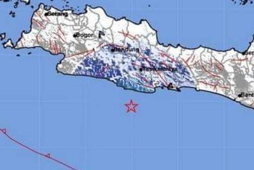 Gempa Tektonik 4,7SR Pusat Gempa Pangandaran