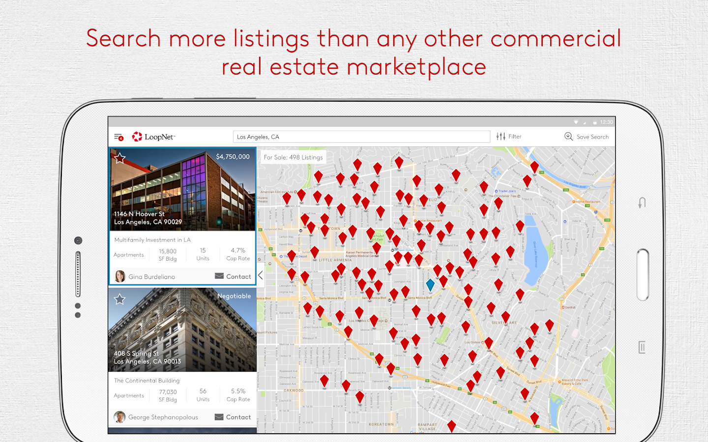 LoopNet - Commercial Real Estate Search- screenshot