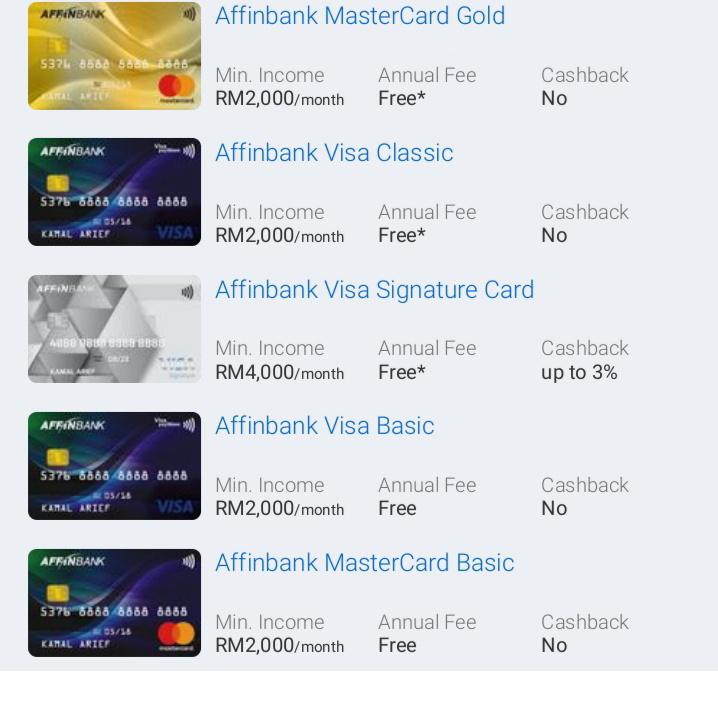 Kad Kredit Affin Bank