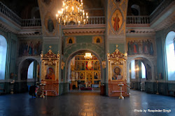 The interior of the Annunciation Cathedral that stands near the Kul Sharif Mosque as symbol of a religiously tolerant Kazan