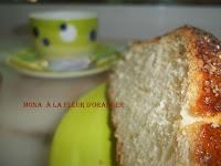 Mona à la fleur d'oranger - recette indexée dans les Desserts
